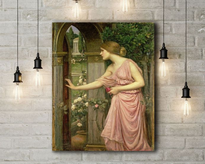John William Waterhouse: Psyche Entering Cupid's Garden. Fine Art Canvas.